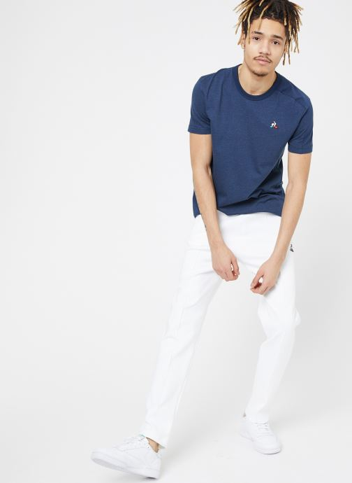 Vêtements Le Coq Sportif TRI Pant Straight N°1 M Blanc vue bas / vue portée sac