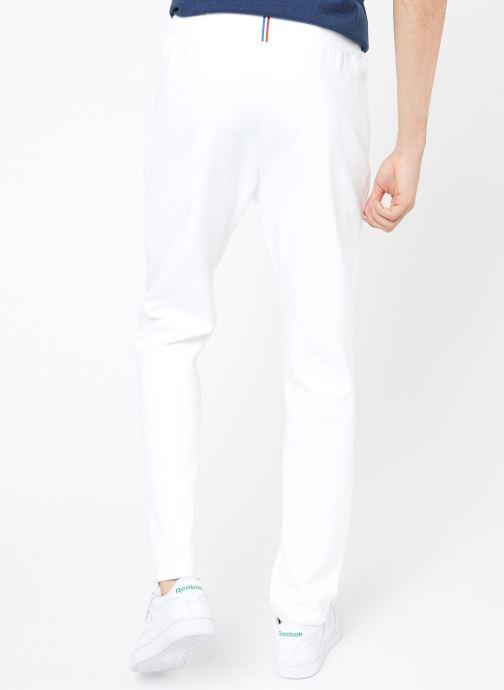 Vêtements Le Coq Sportif TRI Pant Straight N°1 M Blanc vue portées chaussures