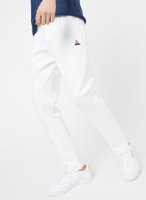 Vêtements Le Coq Sportif TRI Pant Straight N°1 M Blanc vue détail/paire