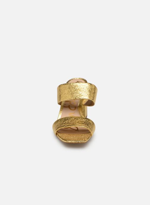Zoccoli Sam Edelman Delaney Oro e bronzo modello indossato