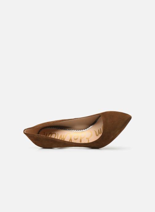 Zapatos de tacón Sam Edelman Hazel Marrón vista lateral izquierda