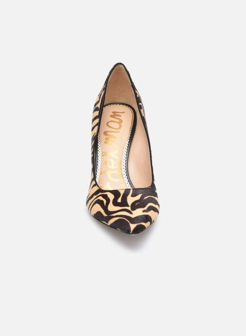 Zapatos de tacón Sam Edelman Hazel Beige vista del modelo