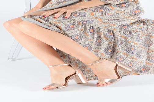 Sandales et nu-pieds Sam Edelman Yaro Rose vue bas / vue portée sac