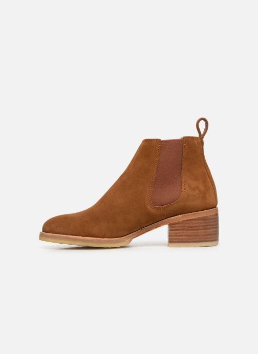 Bottines et boots Clarks Originals Amara Chelsea Marron vue face