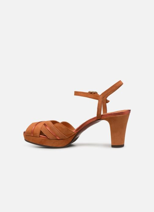 Sandales et nu-pieds Chie Mihara Nalu Marron vue face