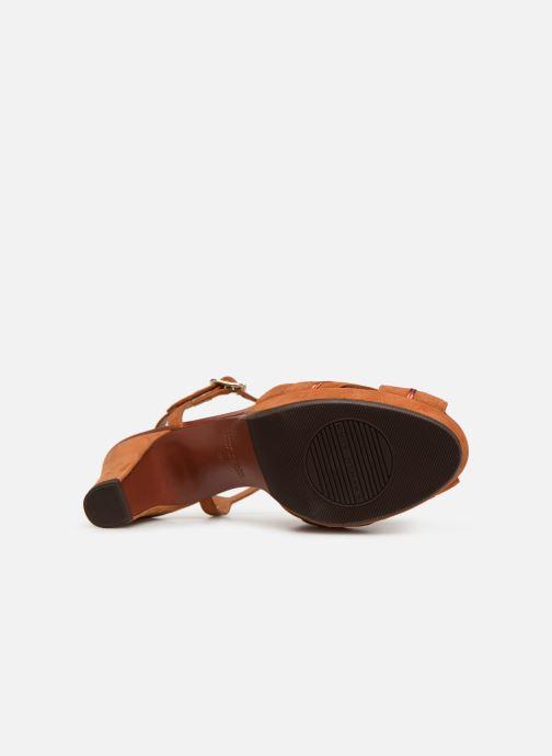 Sandales et nu-pieds Chie Mihara Nalu Marron vue haut