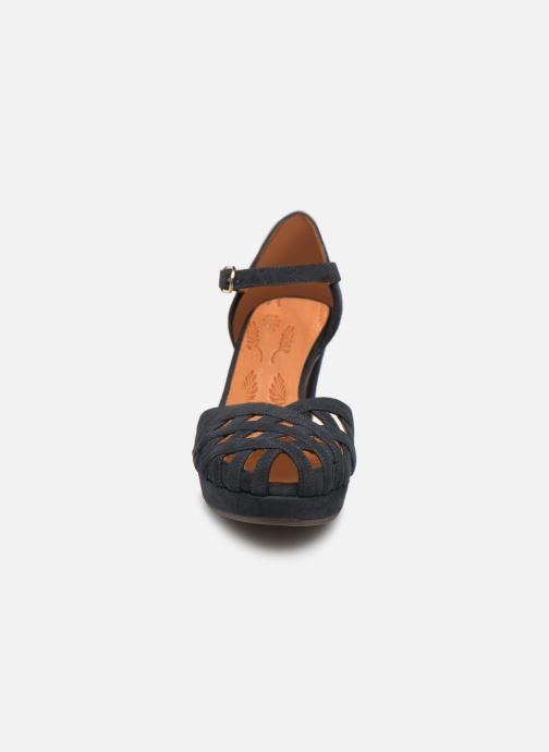 Sandales et nu-pieds Chie Mihara Ni-Irma Bleu vue portées chaussures
