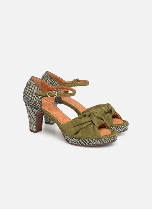 Sandals Chie Mihara Naira Green 3/4 view