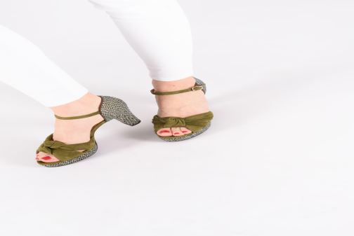 Sandals Chie Mihara Naira Green view from underneath / model view