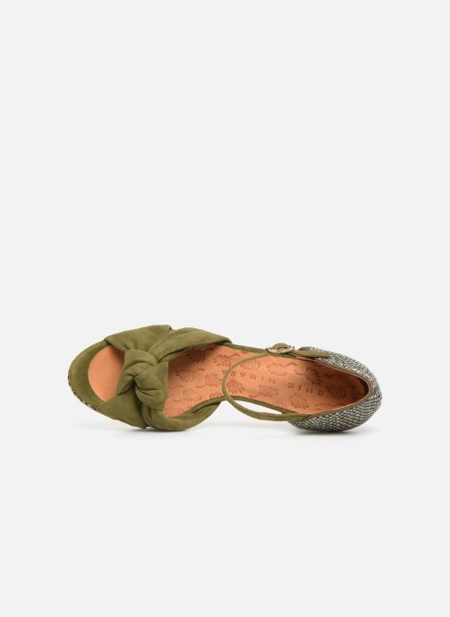 Sandals Chie Mihara Naira Green view from the left