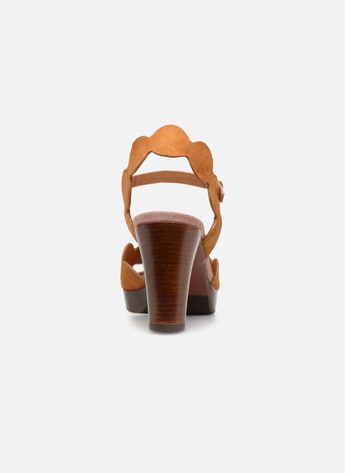 Sandales et nu-pieds Chie Mihara E-Evolet Marron vue droite