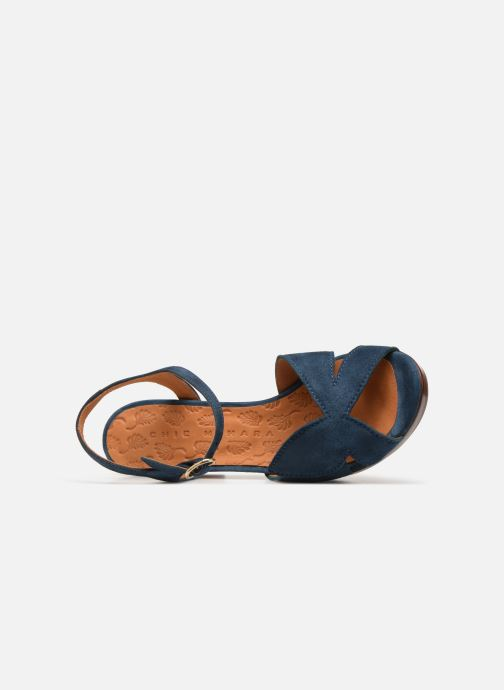 Sandalias Chie Mihara E-Ebisa Azul vista lateral izquierda