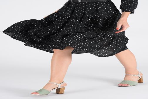 Sandals Chie Mihara Ba-Parigi Blue view from underneath / model view