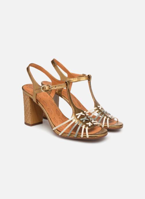 Sandals Chie Mihara Bandida Bronze and Gold 3/4 view