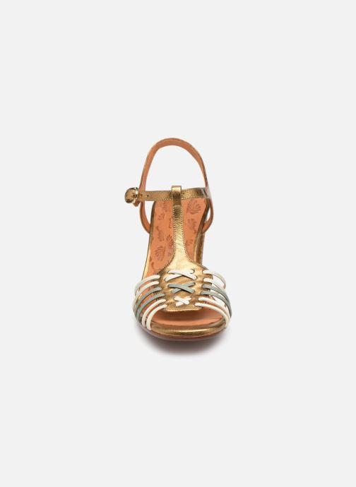 Sandales et nu-pieds Chie Mihara Bandida Or et bronze vue portées chaussures