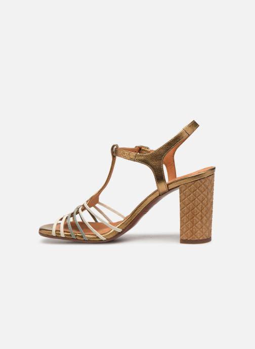 Sandales et nu-pieds Chie Mihara Bandida Or et bronze vue face