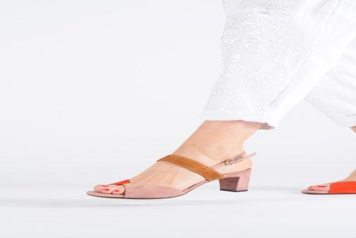 Sandales et nu-pieds Chie Mihara Luzula Rose vue bas / vue portée sac