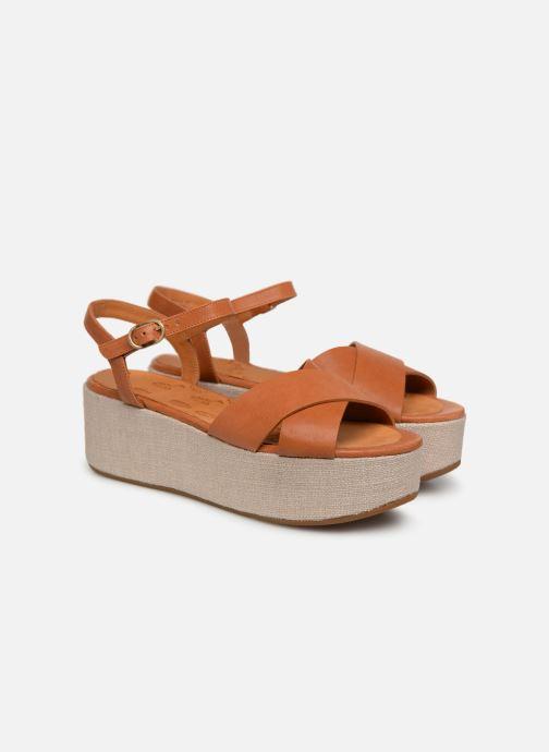 Sandales et nu-pieds Chie Mihara Omero Marron vue 3/4