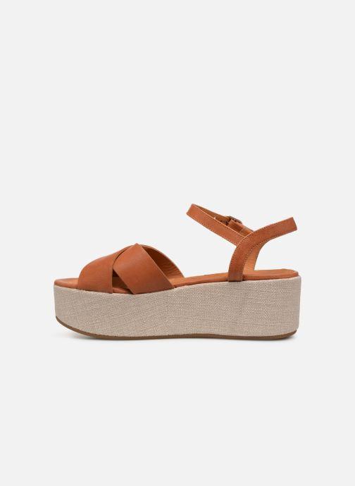 Sandales et nu-pieds Chie Mihara Omero Marron vue face
