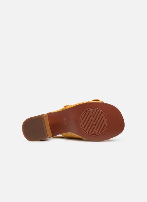 Sandales et nu-pieds Chie Mihara Querina Jaune vue haut