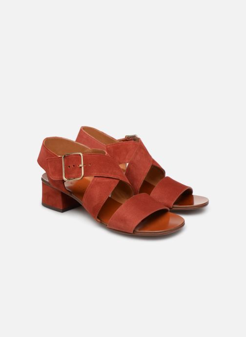Sandals Chie Mihara Q-Israel Red 3/4 view