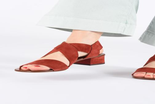 Sandalias Chie Mihara Q-Israel Rojo vista de abajo