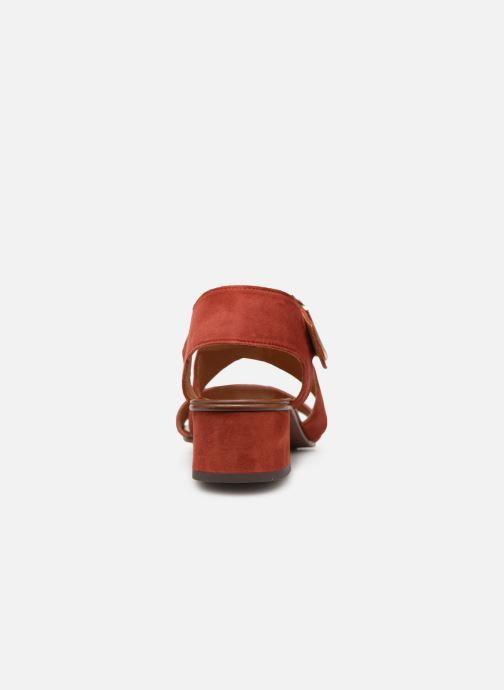 Sandalias Chie Mihara Q-Israel Rojo vista lateral derecha