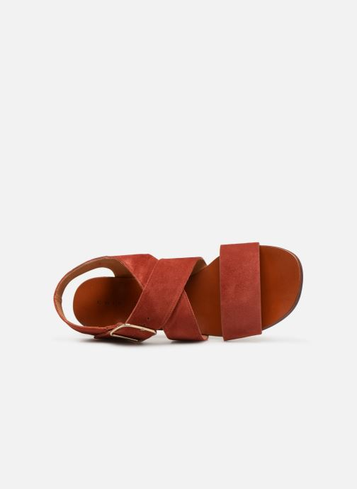 Sandals Chie Mihara Q-Israel Red view from the left