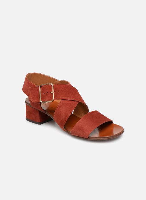 Sandals Chie Mihara Q-Israel Red detailed view/ Pair view