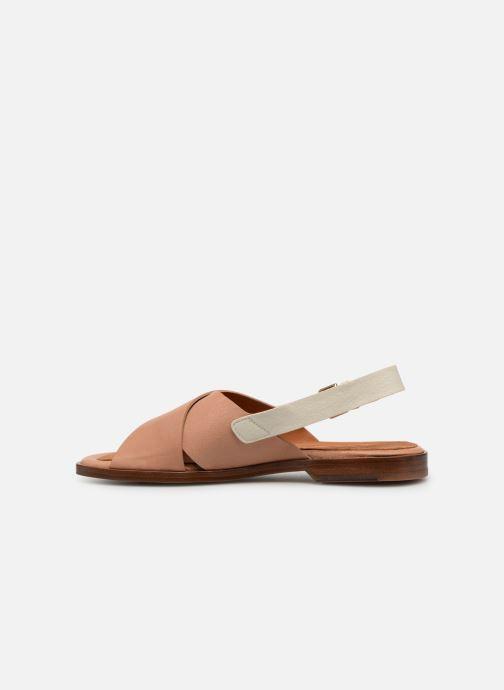Sandales et nu-pieds Chie Mihara Wan Beige vue face