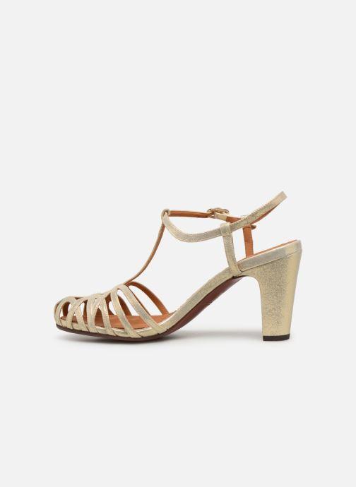 Zapatos de tacón Chie Mihara Ku-Quenu Oro y bronce vista de frente