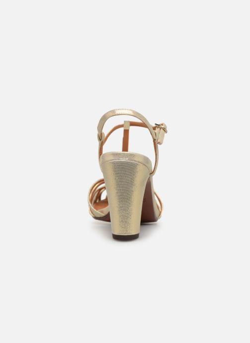 Zapatos de tacón Chie Mihara Ku-Quenu Oro y bronce vista lateral derecha