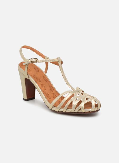 Zapatos de tacón Chie Mihara Ku-Quenu Oro y bronce vista de detalle / par