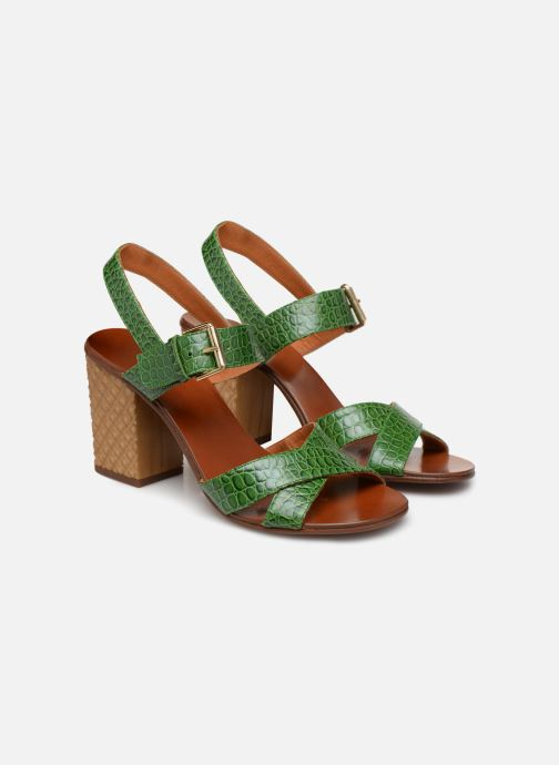 Sandals Chie Mihara Hael Green 3/4 view
