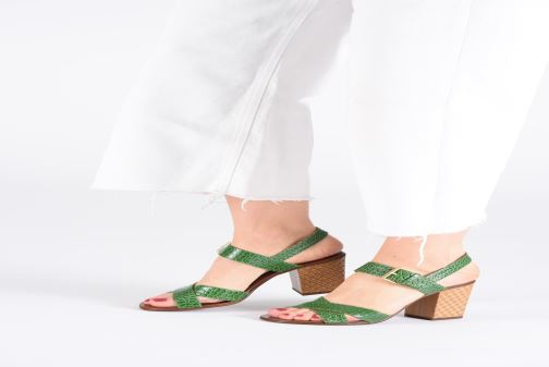 Sandals Chie Mihara Hael Green view from underneath / model view