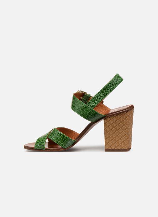 Sandalias Chie Mihara Hael Verde vista de frente