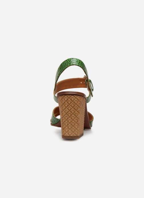 Sandalias Chie Mihara Hael Verde vista lateral derecha