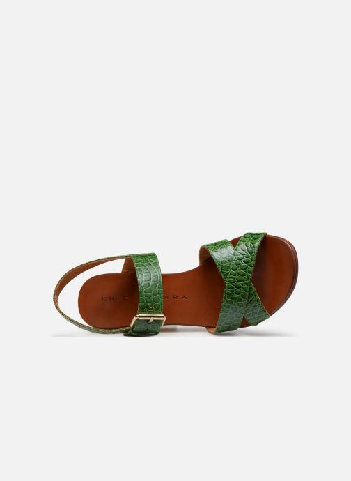 Sandalias Chie Mihara Hael Verde vista lateral izquierda