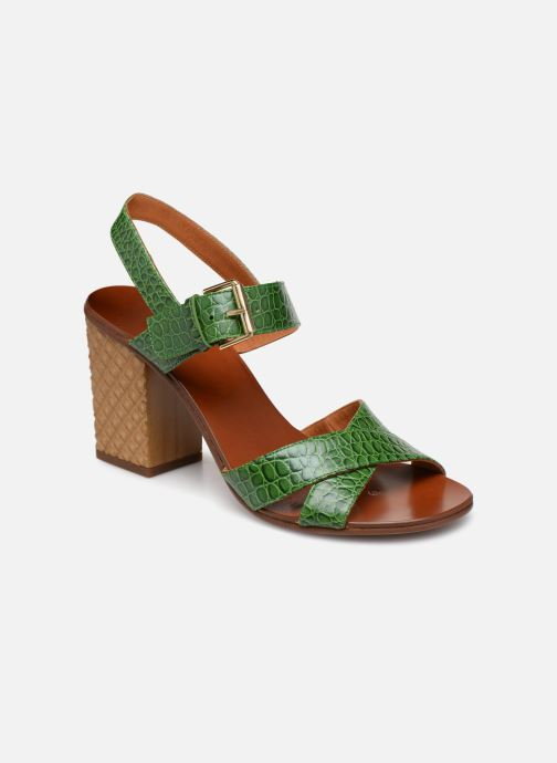 Sandals Chie Mihara Hael Green detailed view/ Pair view