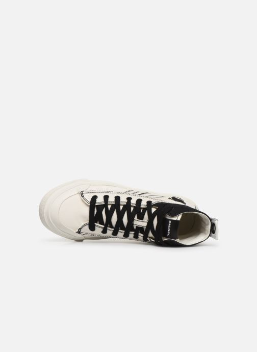 Sneakers Diesel S-Astico Mid Lace W Bianco immagine sinistra