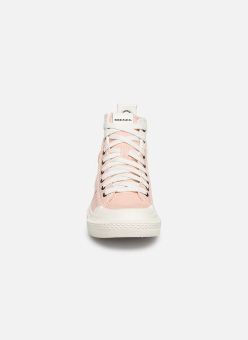 Baskets Diesel S-Astico Mid Lace W Rose vue portées chaussures