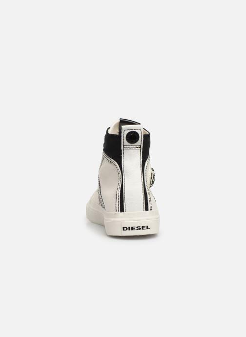 Baskets Diesel S-Astico Mid Lace Blanc vue droite