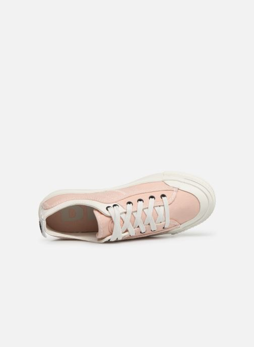 Trainers Diesel S-Astico Low Lace W Pink view from the left