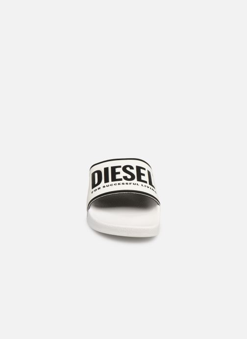 Mules et sabots Diesel Sa-Valla W Blanc vue portées chaussures