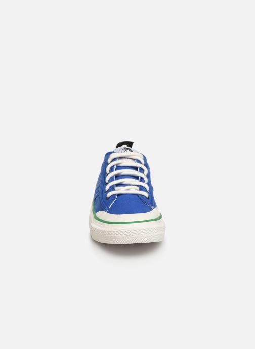 Sneakers Diesel S-Astico Lc Logo Azzurro modello indossato