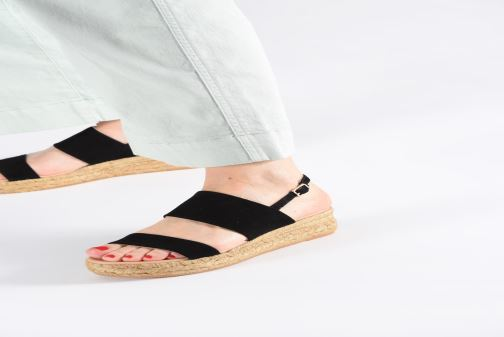 Espadrilles L.K. Bennett Cona Black view from underneath / model view