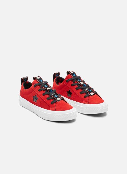 Baskets Converse Converse x Hello Kitty - One Star Ox Rouge vue derrière