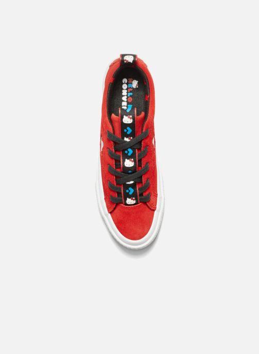 Baskets Converse Converse x Hello Kitty - One Star Ox Rouge vue gauche