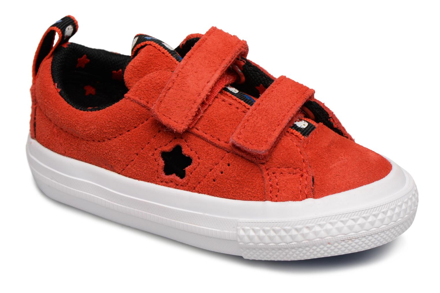 Baskets Converse Converse x Hello Kitty - One Star 2V Ox Rouge vue détail/paire