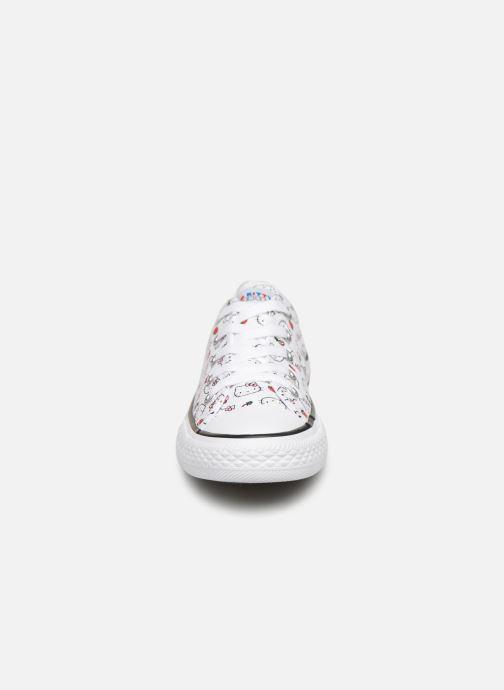 Baskets Converse Converse x Hello Kitty - Ctas Ox K Rouge vue portées chaussures